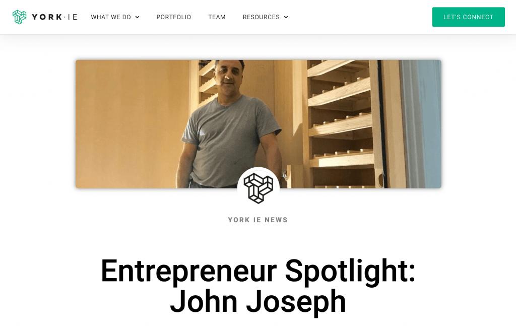 Entrepreneur Spotlight: John Joseph